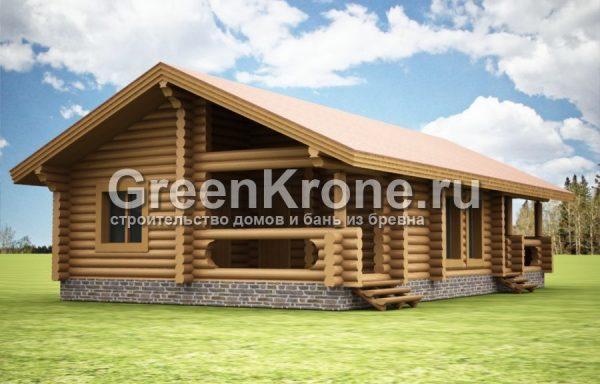 Дом из бревна Надя | 112.70м2