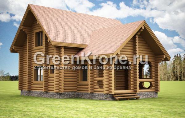 Дом из бревна Ксения | 147.10м2
