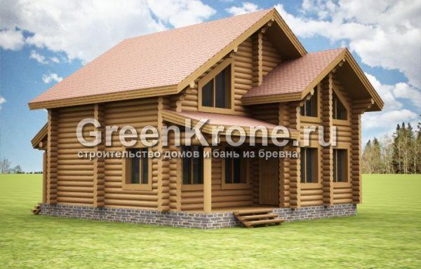 Дом из бревна Арина | 155.60м2