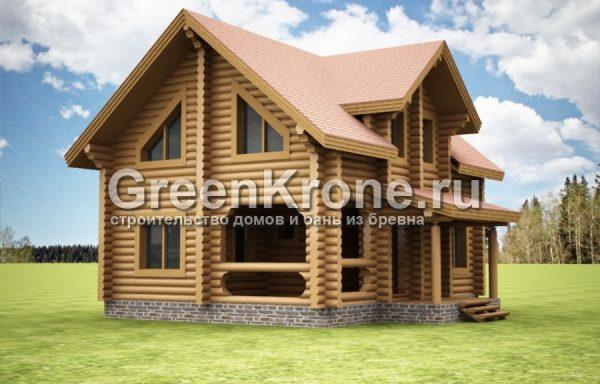 Дом из бревна Вика | 144.40м2