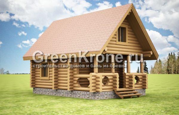 Дом из бревна Сабина | 71.40м2