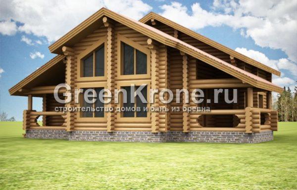 Дом из бревна Таисия | 220.20м2