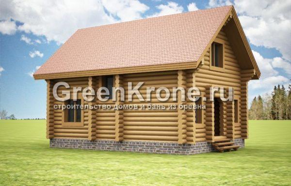 Дом из бревна Ульяна | 101.30м2