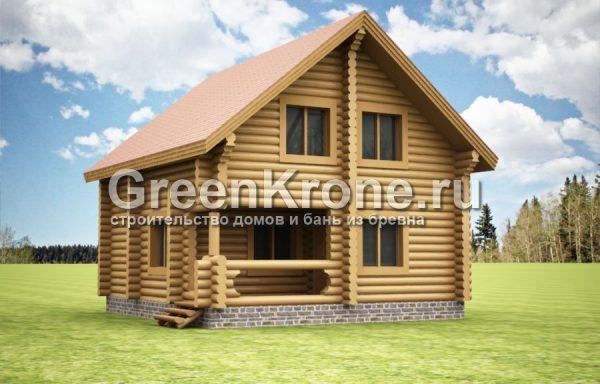 Дом из бревна Марика | 112.60м2