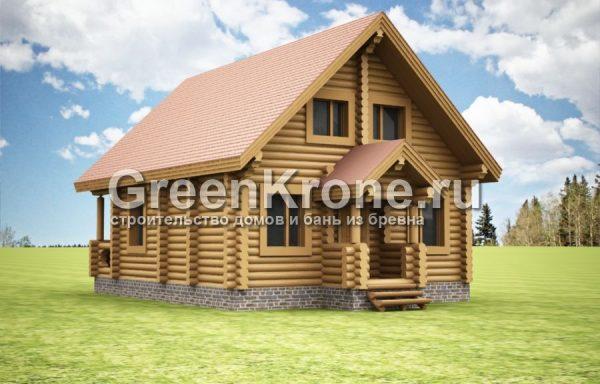 Дом из бревна Виола | 129.40м2