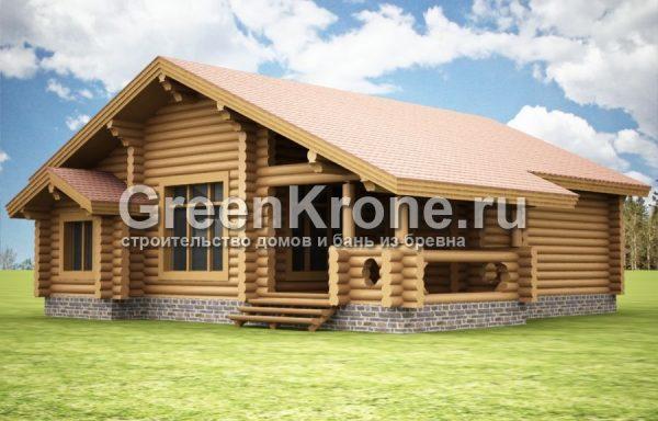 "Дом из бревна ""Ладога"" | 117.90м2"