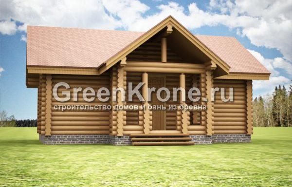 Баня из бревна Келколово