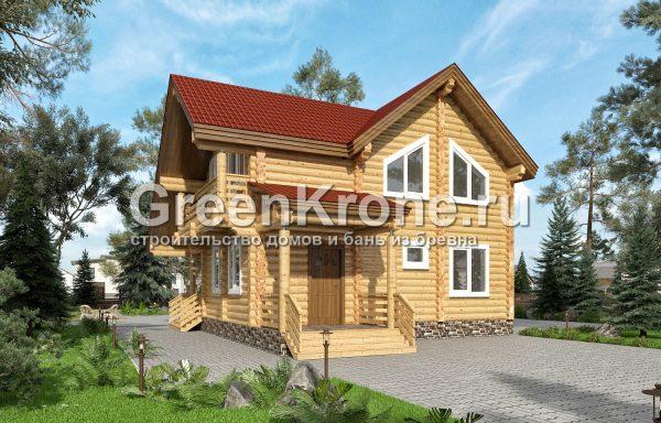 Дом из оцилиндрованного бревна – проект 11