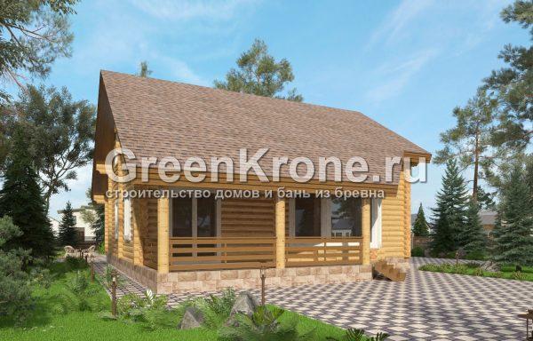 Дом из оцилиндрованного бревна – проект 12