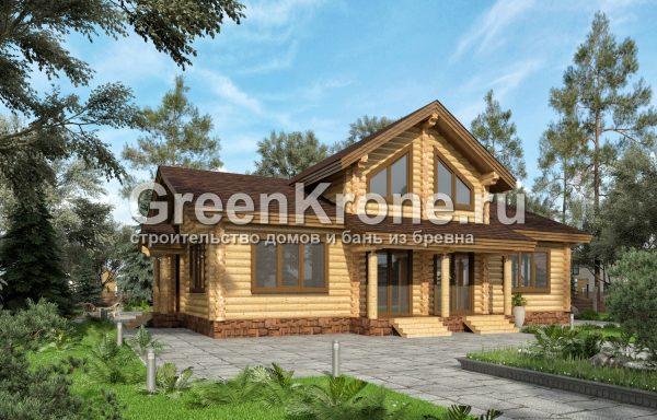 Дом из оцилиндрованного бревна – проект 13