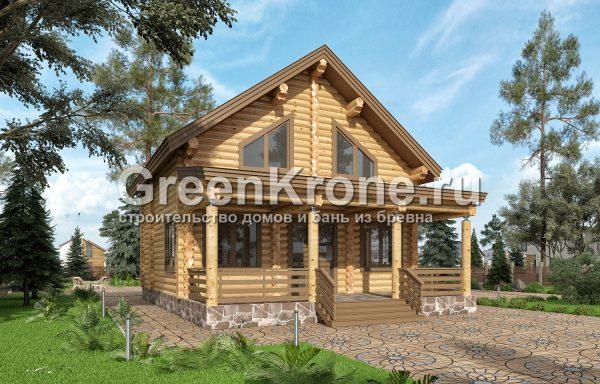 Дом из оцилиндрованного бревна – проект 17