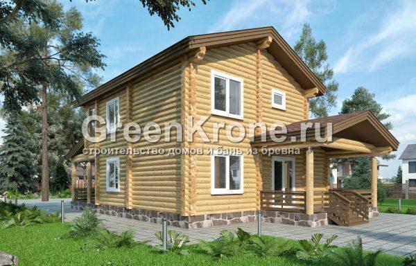 Дом из оцилиндрованного бревна – проект 20