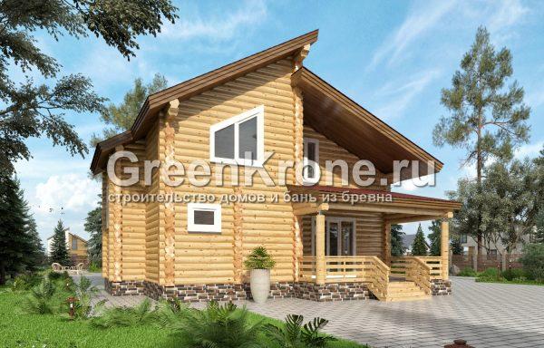 Дом из оцилиндрованного бревна – проект 26