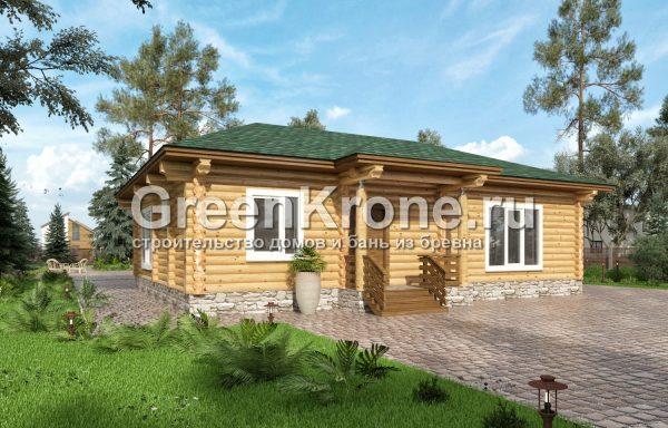 Дом из оцилиндрованного бревна – проект 27