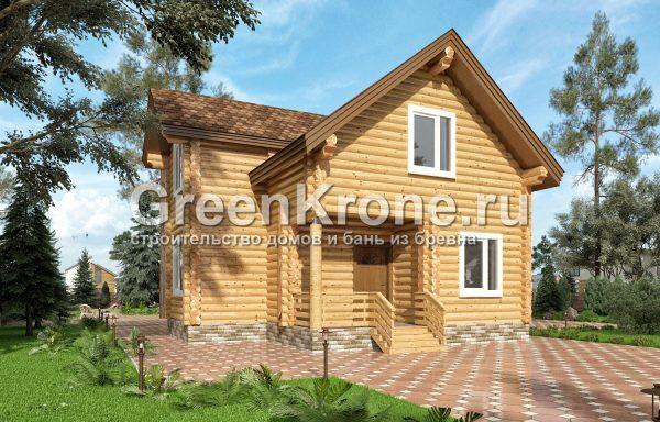 Дом из оцилиндрованного бревна – проект 3