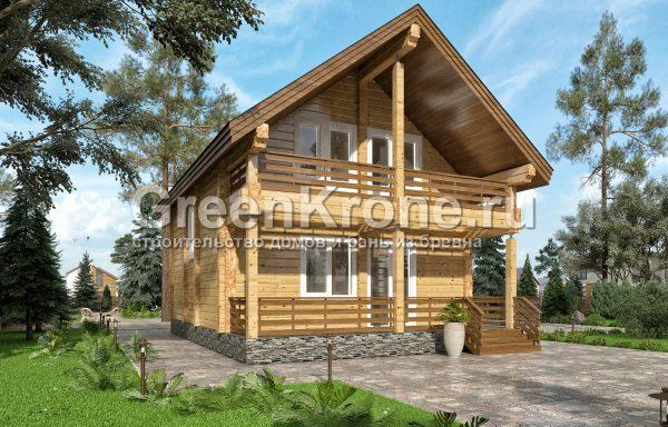 Дом из клееного бруса – проект 2