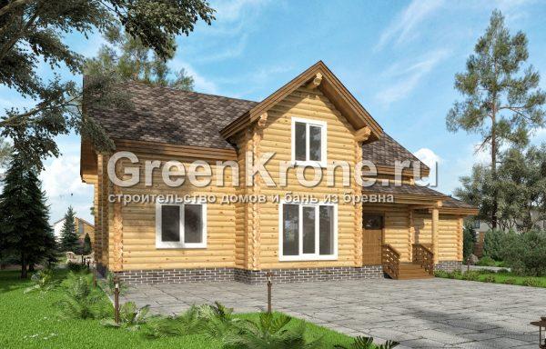 Дом из оцилиндрованного бревна – проект 4