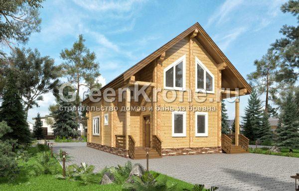 Дом из клееного бруса – проект 10