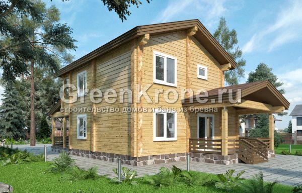 Дом из клееного бруса – проект 20