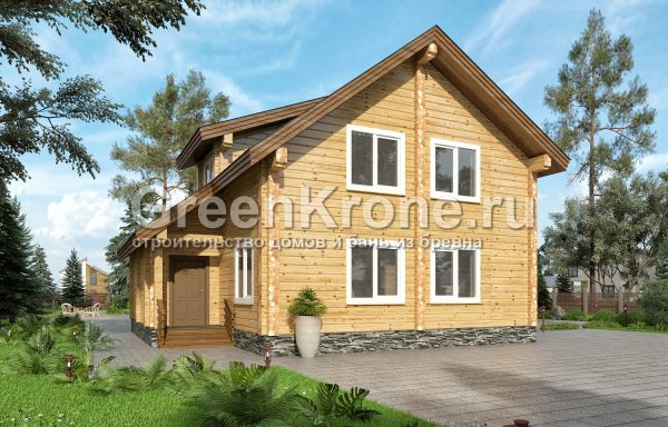 Дом из клееного бруса – проект 22