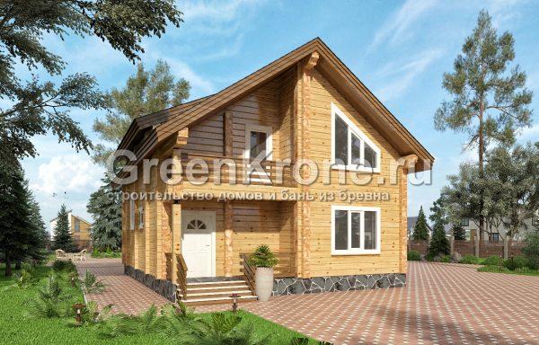 Дом из бруса – проект 24