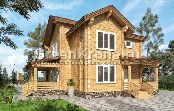 Дом из клееного бруса – проект 28