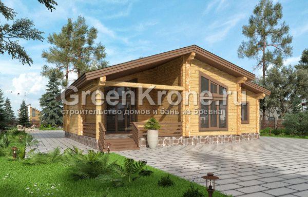 Дом из клееного бруса – проект 29