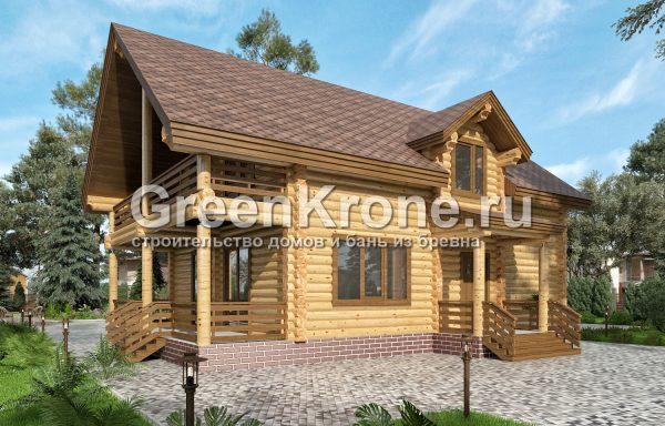 Дом из оцилиндрованного бревна – проект 7