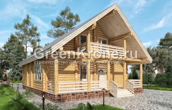 Дом из оцилиндрованного бревна – проект 8