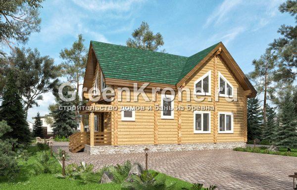 Дом из оцилиндрованного бревна – проект 9