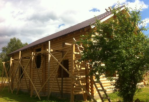 Дом из бревна в Озерешно