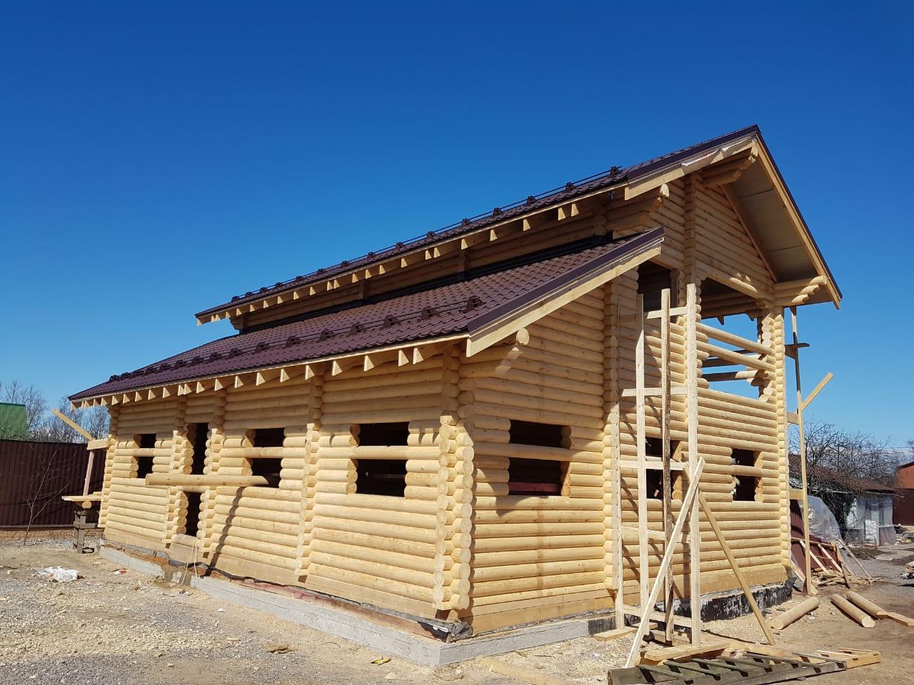 Дом из бревна в Авиагородоке