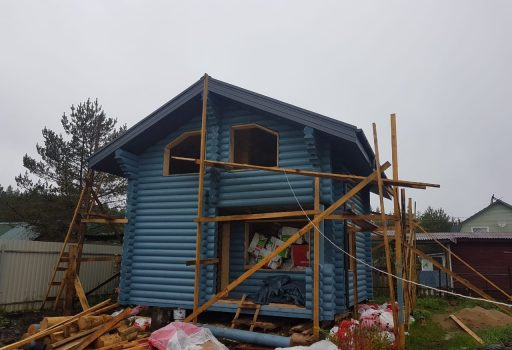 Дом из бревна в Гарболово