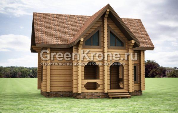 Дом из бруса – проект 40